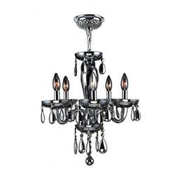 Worldwide Lighting - Worldwide Lighting W83127C16-SM Gatsby 5 Light Candle Style Crystal Chandelier - Features: