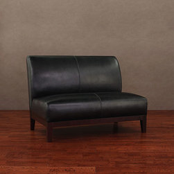 None - Cole/ Cleo Black Leather Loveseat - Enhance your home or office decor with this stylish Cole loveseat. Luxurious black leather featuring a light natural embossing covers this loveseat,bringing comfort and class to any setting.