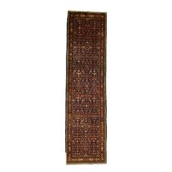 eSaleRugs - 3' 3 x 12' 1 Hossainabad Persian Runner Rug - SKU: 110891540 - Hand Knotted Hossainabad rug. Made of 100% Wool. 20-25 Years.
