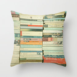 Bookworm Throw Pillow/Cover - Every home should have books, right? But who knew they could appear in your furniture?
