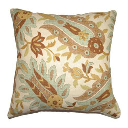 Pillow Collection - The Pillow Collection Gafsa Paisley Pillow - Aqua Multicolor - P18-42111-AQUA-C5 - Shop for Pillows from Hayneedle.com! Like a perfectly painted watercolor The Pillow Collection Gafsa Paisley Pillow - Aqua adds a soothing traditional touch to your home. Made of 55% cotton and 45% linen this elegant square pillow features a plush 95/5 feather/down insert for ultra softness. The time-worn look and soft colors of the paisley print are sure to make any room feel like a relaxing retreat.About The Pillow CollectionIdentical twin brothers Adam and Kyle started The Pillow Collection with a simple objective. They wanted to create an extensive selection of beautiful and affordable throw pillows. Their father is a renowned interior designer and they developed a deep appreciation of style from him. They hand select all fabrics to find the perfect cottons linens damasks and silks in a variety of colors patterns and designs. Standard features include hidden full-length zippers and luxurious high polyester fiber or down blended inserts. At The Pillow Collection they know that a throw pillow makes a room.