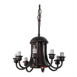 Meyda Tiffany - Meyda Tiffany Wiring Components Semi-Flush Mount Ceiling Fixture in Undefined - Shown in picture: Mahogany Bronze 8 Lt and Down Lt/Cpy