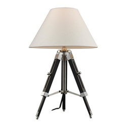 Dimond Lighting - D2125 Studio Table Lamp, Chrome and Black - Nautical Table Lamp in Chrome and Black from the Studio Collection by Dimond Lighting.