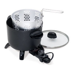 Presto - Kitchen Kettle MultiCooker - Kitchen Kettle multi-cooker steams vegetables and rice  cooks pasta. Roasts beef  pork  and poultry. Makes soups and casseroles. Heavy cast aluminum base for even heat distribution. Premium nonstick surface inside and out for stick-free cooking and easy cleaning.   .