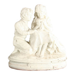 Le Premier Amour - Large Consigned Vintage French Chalk Courting - Product Details