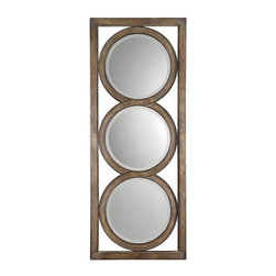 Uttermost - Uttermost 13533 B Isandro Beveled Multi-Mirror Wall Art In Metal Frame - Uttermost 13533 B Grace Feyock Isandro MirrorMade of hand forged metal, this frame features and open design that allows wall color to show thru and is finished in silver undertones with a black-gray wash and burnished edges. Mirrors are beveled.Features: