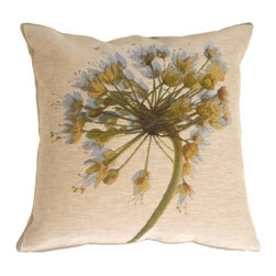 Pillow Decor Ltd. - Pillow Decor - Garlic Flower Pillow - This is one garlic flower that you won't mind displaying. The elaborate detail of the bouquet gives this French tapestry pillow its sweet appeal. And, with its neutral colors, it'll look good almost anywhere.