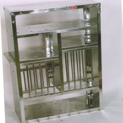 A Medium Stainless Steel Plate Rack -