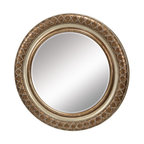 "Sterling Industries - Sterling Industries 6050395 35.5"" Diameter Cocktail Circular Mirror - Sterling Industries 6050395 35.5"" Diameter Cocktail Circular MirrorWith a frame sparkling like a glass of champagne, this round mirror with the fine beaded detail, adds glamour to any setting. Hand applied bronze and silver leaf finish with a beveled mirror.Sterling Industries 6050395 Features:"