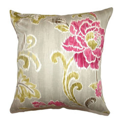 Pillow Collection - The Pillow Collection Jacobina Floral Pillow - Fuchsia Multicolor - P18-42236-FU - Shop for Pillows from Hayneedle.com! You certainly can't accuse The Pillow Collection Jacobina Floral Pillow - Fuchsia of being a wallflower. Made of 100% soft cotton this elegant square pillow features a plush 95/5 feather/down insert for the ultimate in softness. The Ikat-inspired floral print features bold colors and a dreamy look that's sure to spruce up your space instantly.About The Pillow CollectionIdentical twin brothers Adam and Kyle started The Pillow Collection with a simple objective. They wanted to create an extensive selection of beautiful and affordable throw pillows. Their father is a renowned interior designer and they developed a deep appreciation of style from him. They hand select all fabrics to find the perfect cottons linens damasks and silks in a variety of colors patterns and designs. Standard features include hidden full-length zippers and luxurious high polyester fiber or down blended inserts. At The Pillow Collection they know that a throw pillow makes a room.