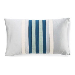 Jiti Pillows - Racing Poly Pillow in Blue - Features: -Color: Blue. -Material: 100% Polyester. -95% Feather, 5% down insert. -Indoor use. -Come with zipper. -Dry clean only.