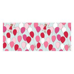 """Pop & Lolli - Balloons Wallpaper - Balloons Wallpaper is a Sarah Jane design from her Children at Play fabric line. Please see also the """"Balloons""""art print as a coordinating design."""