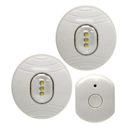 GE - GE White Battery Operated LED Puck Light with RF Remote Control (2-Pack) 17494 - Shop for Lighting & Fans at The Home Depot. Wireless remote control LED puck lights enable you to add a light anywhere you need it. They're battery operated, no wiring needed. Easy operation with wireless remote control switch.