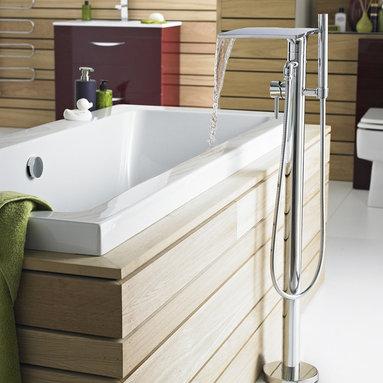 Freestanding Waterfall Bath Shower Mixer - Hudson Reed