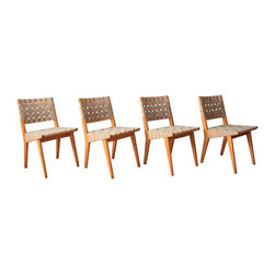 Vintage Knoll Chairs by Jens Risom - Set of 4 - Dimensions 17.5ʺW × 16.5ʺD × 30.5ʺH