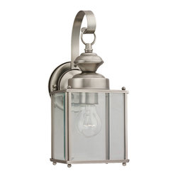 Sea Gull Lighting - Sea Gull Lighting 8457-965 Jamestowne Nickel Outdoor Hanging Lantern - Jamestowne Outdoor Wall Lantern Finished In Black With Clear Beveled Glass.