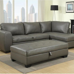 Richard Grey Bonded Leather Sectional Set -