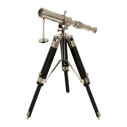 "IMAX - Voyager Tabletop Telescope - Liven up your office with this fun telescope on wooden stand. Item Dimensions: (12""h x 7.5""w x 7.5"")"