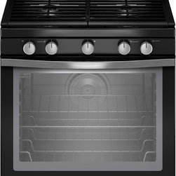 Whirlpool Electric Range - Turn up the heat on all your favorite dishes with the Whirlpool 4.8 cu. ft. capacity electric range. A storage drawer puts pots, pans, and other cookware easily within reach, while coil elements heat up quickly to provide high temperatures for boiling and frying. Thanks to Custom Broil, you can set your preferred broiling temperature in 5-degree increments. Perfect your recipes with high heat while grilling meat and low heat while completing delicate tasks.
