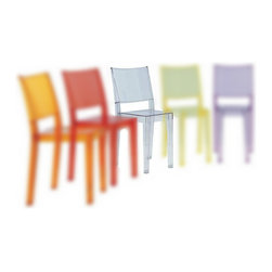 Kartell - La Marie Chair, Set of 2, Transparent Crystal Clear - Looks can be deceiving. Although this chair appears as fragile as glass, its strength comes from its inherent flexibility. It instantly lightens up your look, whether you place it in the kitchen or outdoors at your next garden party. Formed from a single polycarbonate mold, it's scratch- and shock-resistant, and can be stacked up when you need to clear the floor.