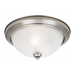Sea Gull Lighting - 3-Light Ceiling Antique Brushed Nickel - 77065-965 Sea Gull Lighting 3-Light Ceiling Flush Mount with a Antique Brushed Nickel Finish