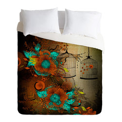 DENY Designs - Iveta Abolina Rusty Lace Duvet Cover - Turn your basic, boring down comforter into the super stylish focal point of your bedroom. Our Luxe Duvet is made from a heavy-weight luxurious woven polyester with a 50% cotton/50% polyester cream bottom. It also includes a hidden zipper with interior corner ties to secure your comforter. it's comfy, fade-resistant, and custom printed for each and every customer.