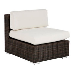Source Outdoor Manhattan All Weather Wicker Armless Sectional Unit