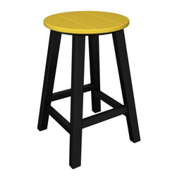 Home Decorators Collection - PolyWood® Counter Stool - Set of 2 - Perfect for your next patio party, the PolyWood® Counter Stool Set is constructed from high-density polyethylene, an exceptionally sturdy plastic with infinite recycle-ability. These HDPE counter stools will add modern flair to your outdoor decor, as well as stand up to corrosive substances such as oil, fuels, insects, fungi, salt spray and other environmental stresses. Add these patio stools to your outdoor bar today for a distinctive look that will endure year after year. Requires no water proofing, painting, staining, or similar maintenance. Does not absorb moisture and therefore will not rot, splinter, or crack. Over 90% of its HDPE construction is made from post-consumer bottle waste. Complement your purchase with the entire PolyWood® Collection of patio furniture. Multiple color options available.