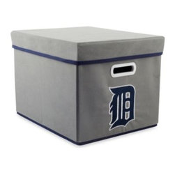 Owner's Box, Llc - MLB Detroit Tigers Fabric Storage Cube with Cover - Keep your home or office organized with these stackable cubes. These cubes come with covers and are designed to fit both letter and legal sized file folders. Perfect for any room, these cubes feature the logo of your favorite MLB team.