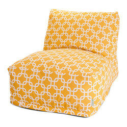 Outdoor Yellow Links Bean Bag Chair Lounger
