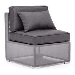 Zuo Modern - Zuo Modern Clear Water Bay Outdoor Middle X-180307 - Versatile and durable, the Clear Water Outdoor series will transform any outdoor setting. The frame is aluminum with a textile weave outer covering. Cushions are made of an antimicrobial foam with a UV and water resistant fabric cover.