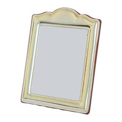 "Silverstar International - 5""x7"" Dominique Pure Sterling Silver Frame - Designed & manufactured by Silverstar International, Dominique photo frame is a handcrafted Italian made pure 925 sterling beaded arch picture frame with a wide border and a graceful curved chapel arch at the top. With an elegant mahogany back, it exudes luxury. It features a slide tab closure for easy access to your photos.Every Silverstar picture frame is designed with a tarnish resistant surface for easy cleaning and glare resistant glass. Your precious wedding photographs can be encased in the engraveable sterling silver picture frame meant to become a heirloom for many years to come."