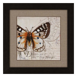 Paragon - Living Your Dreams I - Framed Art - Each product is custom made upon order so there might be small variations from the picture displayed. No two pieces are exactly alike.