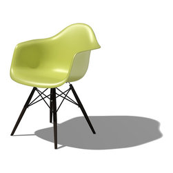 Herman Miller - Eames Dowel Leg Armchair - Let iconic style enter your home with this famous modern piece of furniture, designed exquisitely by Charles and Ray Eames. Upgraded to sustainable materials and re-imagined with dowel legs, this armchair weds form and function in an unforgettable way.