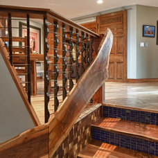 Eclectic Staircase by Stimmel Consulting Group