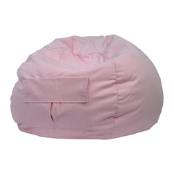 Hudson Industries - Pink Round Beanbag-Twill - Cool pink twill standard round beanbag. Child safe zipperFilled with expanded polystyrene beads. Double stitched. 30 Day Manufacturer's Warranty. 34 in. L x 34 in. W x 34 in. H (5 lbs)