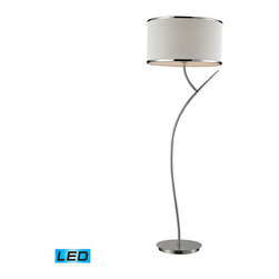 Dimond Lighting - Dimond Lighting Annika 1- Light Floor Lamp in Polished Chrome - LED Offering Up - 1- Light Floor Lamp in Polished Chrome - LED Offering Up To 800 Lumens belongs to Annika Collection by Dimond Lighting Lamp (1)