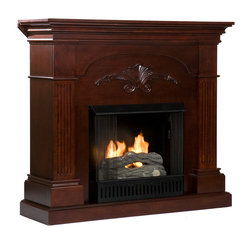 Salerno Fireplace, Mahogany, Gel