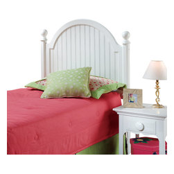 Hillsdale Furniture - Hillsdale Westfield Panel Headboard - Full - Inspired by classic Cottage styling, Hillsdale Furniture's Westfield youth bed features a traditional curved headboard, bead board details and lovely sculpted feet. Finished in a perfectly charming white this bed is a refreshing and cheerful addition to your child's bedroom.