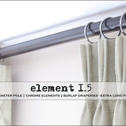 chrome - pinch pleat drapery hardware + element 1.5 by Urban Decors