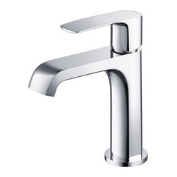 Fresca - Fresca Tusciano Single Hole Mount Bathroom Vanity Faucet - This single hole faucet is made from heavy duty brass with a chrome finish. Features ceramic mixing valve for longevity and watertight functionality.