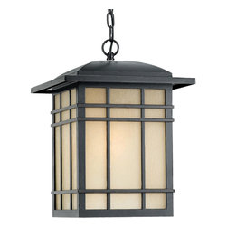 Quoizel Lighting - Quoizel Lighting HC1913IB Craftsman Mission Hillcrest Outdoor Hanging Lantern - A design made for classic Arts & Crafts style homes, but looks great on contemporary or modern homes as well.