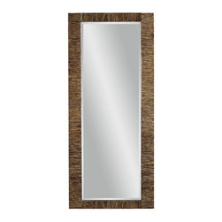 Bassett Mirror - Rattan Rectangle Wall Mirror - Burnished Bronze Finish - Pencil Rattan - Rectangle. Measures: 30 in. W x 68 in. H.
