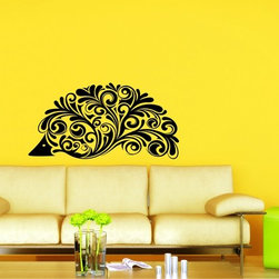 StickONmania - Ornate Plant Design #2 Sticker - A cool vinyl decal wall art decoration for your home  Decorate your home with original vinyl decals made to order in our shop located in the USA. We only use the best equipment and materials to guarantee the everlasting quality of each vinyl sticker. Our original wall art design stickers are easy to apply on most flat surfaces, including slightly textured walls, windows, mirrors, or any smooth surface. Some wall decals may come in multiple pieces due to the size of the design, different sizes of most of our vinyl stickers are available, please message us for a quote. Interior wall decor stickers come with a MATTE finish that is easier to remove from painted surfaces but Exterior stickers for cars,  bathrooms and refrigerators come with a stickier GLOSSY finish that can also be used for exterior purposes. We DO NOT recommend using glossy finish stickers on walls. All of our Vinyl wall decals are removable but not re-positionable, simply peel and stick, no glue or chemicals needed. Our decals always come with instructions and if you order from Houzz we will always add a small thank you gift.