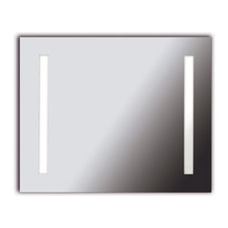 Kenroy Home - Kenroy 90831 Rifletta 2 Lt Vanity Mirror LG - Lights and a mirror in one, Rifletta sits flush with just a 2 inch extension from the wall offering maximum surface in minimal space.  Contemporary and brilliantly lit, this functional design element is available in 3 sleek configurations.