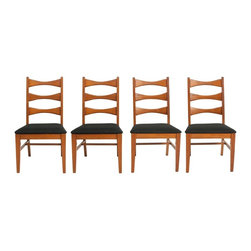 Unknown - Consigned Mid Century Modern Oak Ladder Back Dining Chairs - • Mid Century | Danish Modern