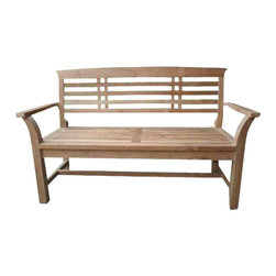 Anderson Teak - Sakura 2-seater Bench - Sakura bench is designed with the Asian characteristic, simple traditional styling that has not ever and will not ever go out of style, but quietly blends with any decor. We have made subtle but careful design changes to ensure excellent back support. Place a single bench under your trees; use a group of benches and chairs for entertaining. The durable teak construction of this heavyweight bench will allow it to withstand constant usage, making it ideal for parks, shopping centers, or any other heavily frequented area. This furniture bench features a comfortable flat seat that offer a Japanese surface style. Cushion is optional and is can be made by order.