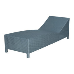 Outdoor Living - Oakwood Outdoor Chaise - Whether you're relaxing by the pool or just getting some sun, this outdoor chaise offers a comfortable seat that boasts crisp lines and neutral hues to seamlessly pair with your design scheme. Crafted with durable man-made materials, it's sure to withstand harsh weather with ease.   Weight capacity: 300 lbs. 26'' W x 24'' H x 76'' D Polyethylene / aluminum Minimal assembly required Imported
