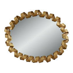 Bassett Mirror Company - Bassett Mirror Fiesta Wall Mirror - Gold Lacquer - Fiesta Wall Mirror - Gold Lacquer belongs to Contempo Collection by Bassett Mirror Company Fiesta Wall Mirror - Gold Lacquer Mirror (1)