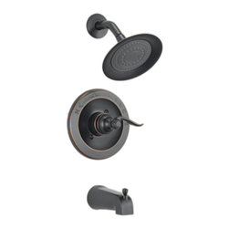 Delta - Delta BT14496-OB Windemere Monitor 14 Series Tub/Shower Trim (Oil Rubbed Bronze) - The Windemere Series brings a curved, sleek style to any contemporary home. It also features a dependable, yet chic design.